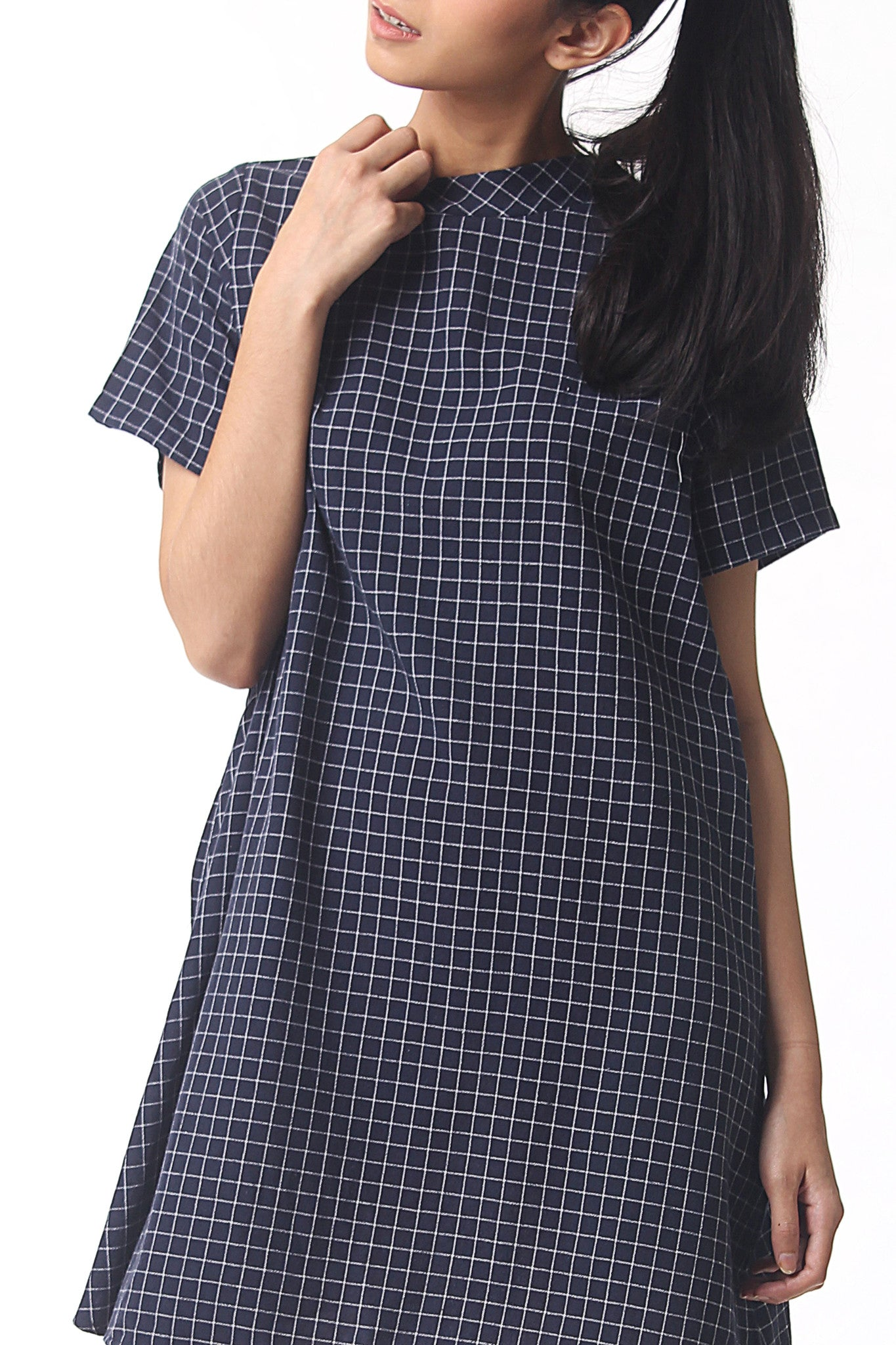 Pattern Dress - Deep Navy
