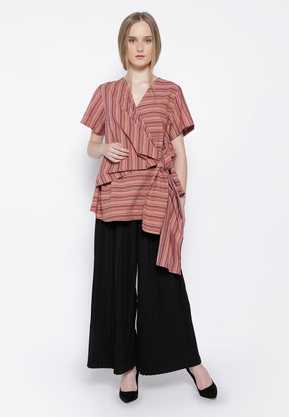 Lurik Wrap Blouse