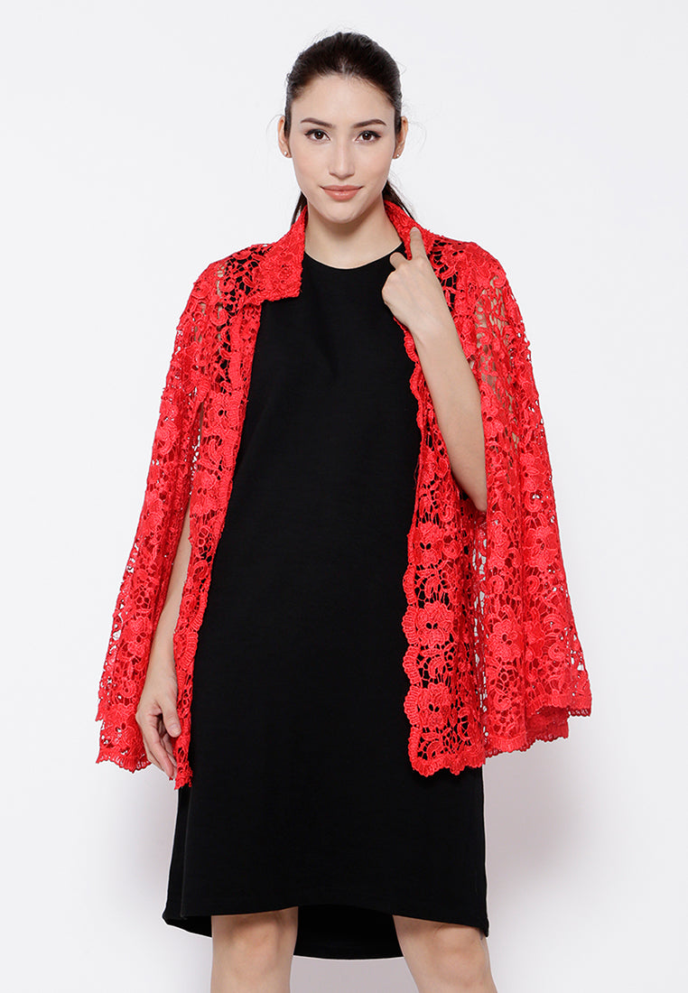 Red Lace Cape