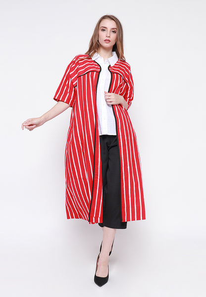 Lurik Fancy Outer - Red