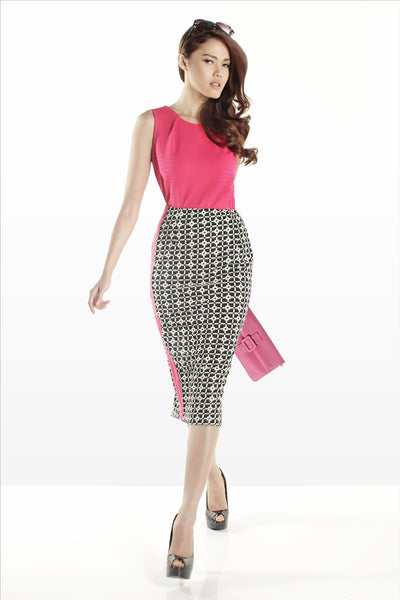 SAMPLE SALE - Midi Skirt Pattern List Pink