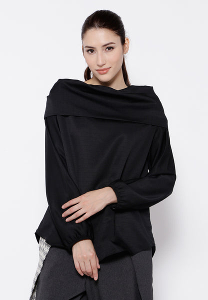 Two Ways Sabrina Blouse - Black