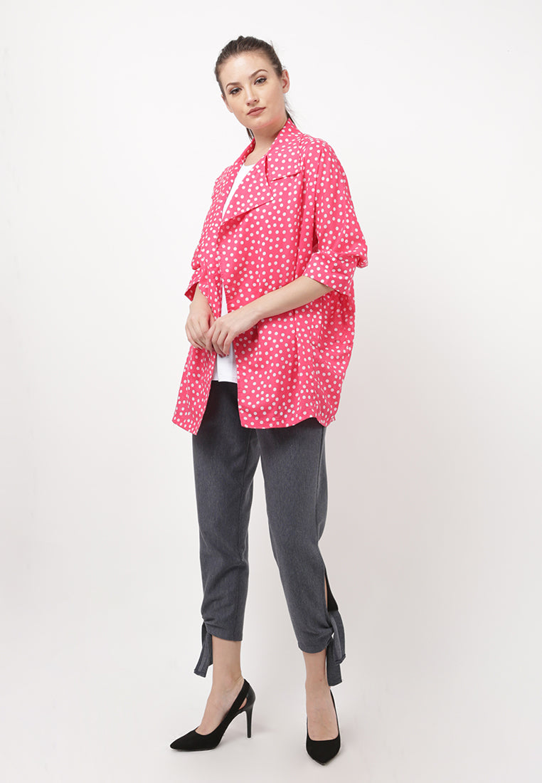 Polkadot Light Coat - Pink