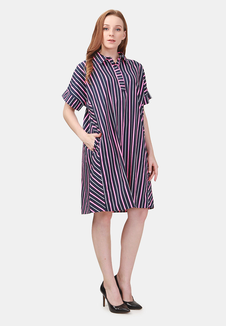 Multicolor Shirt Dress