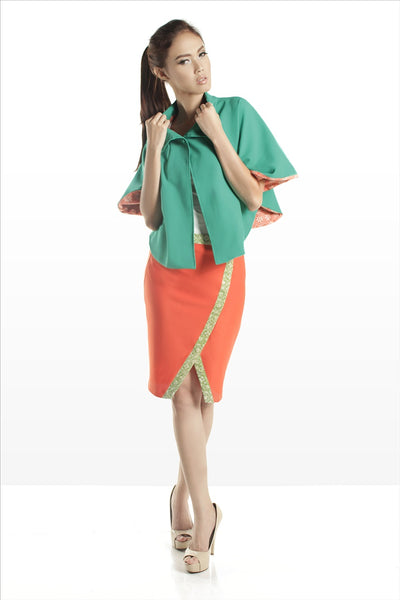 SAMPLE SALE - Midi Skirt Orange