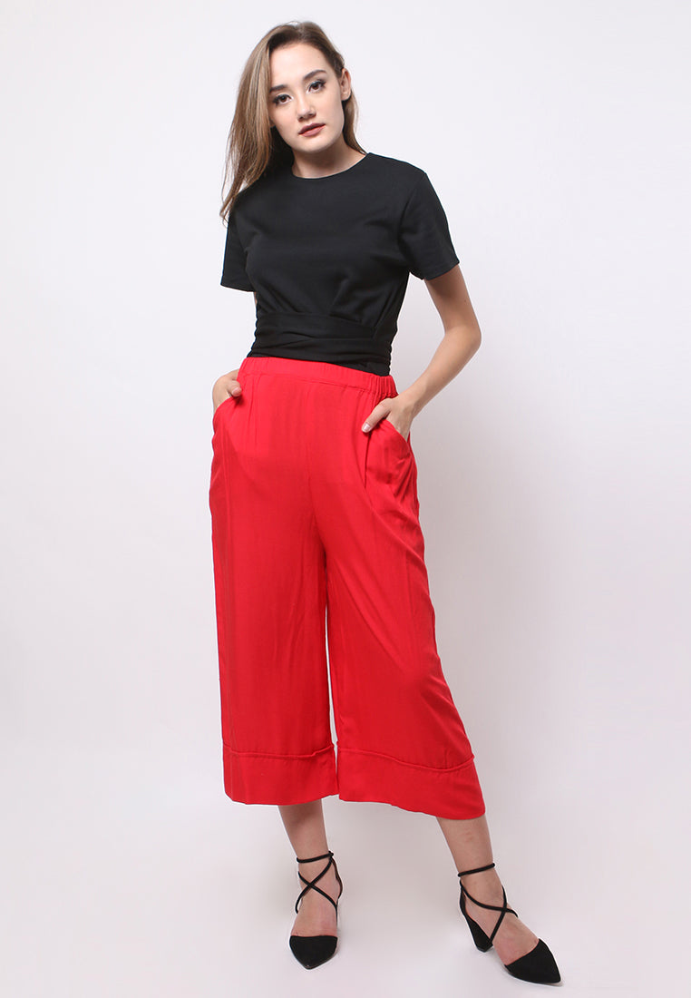 Culottes Pants 7/8 - Red