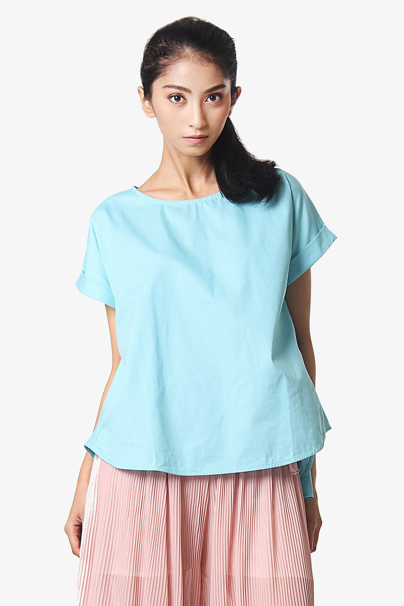 A-Line Shirt Blouse - Blue