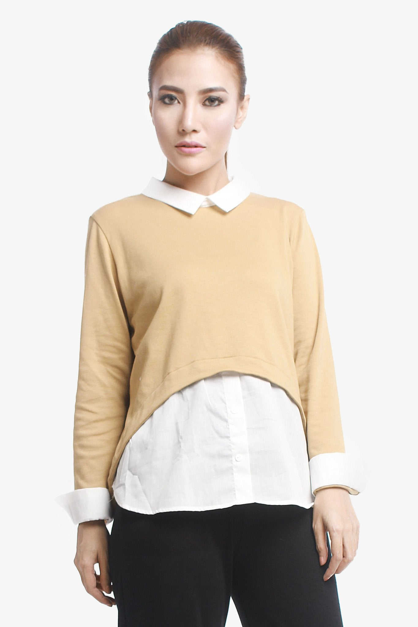 Double Layered Shirt - Brown