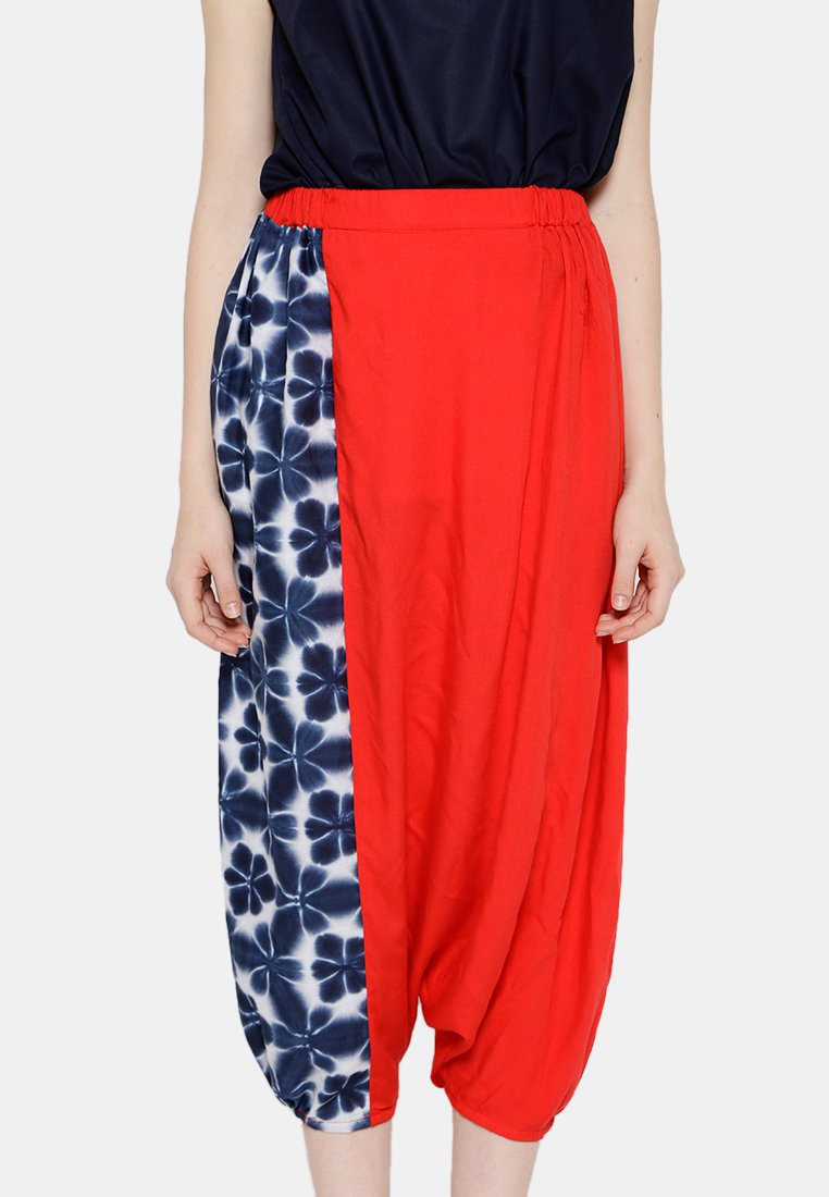 Shibori Saroong Pants - Red