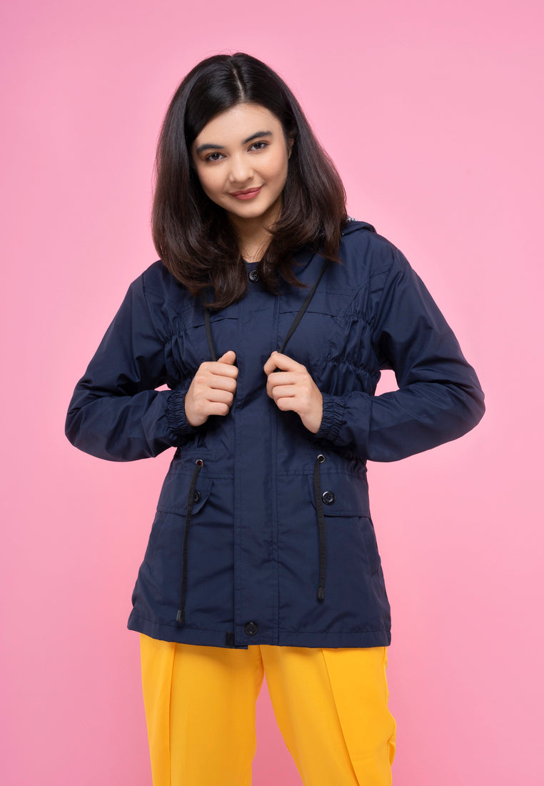 Light Hoodie Jacket - Navy