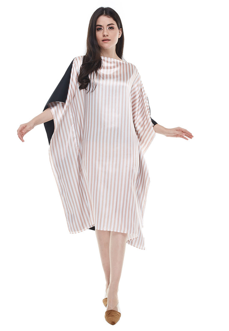 Two Ways Boxy Kaftan Dress - Stripe Brown