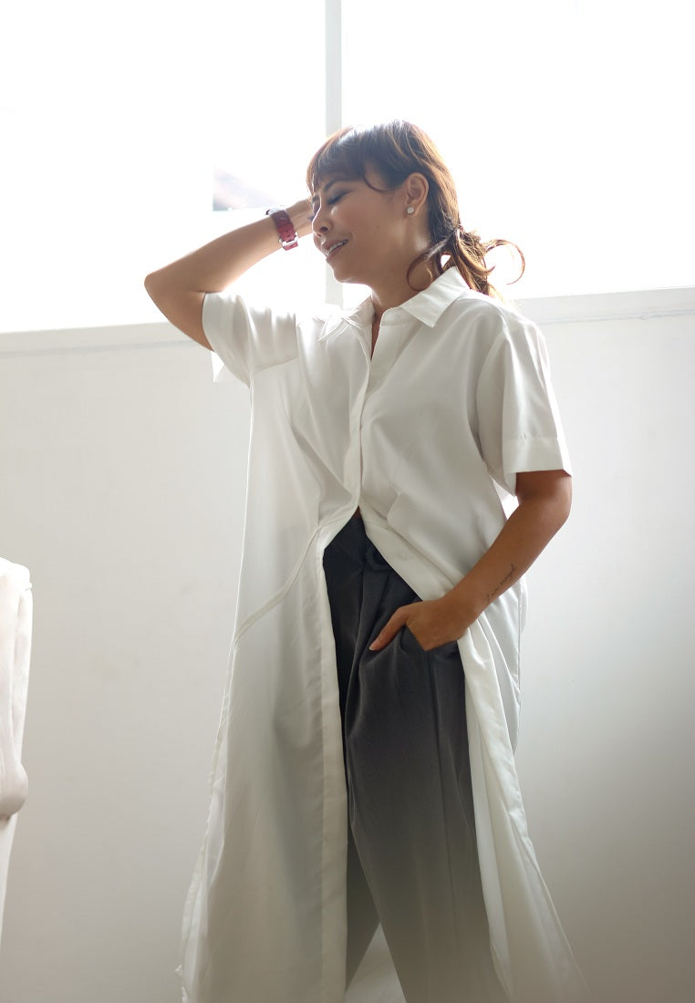 Effortless Slit Shirt - Broken White