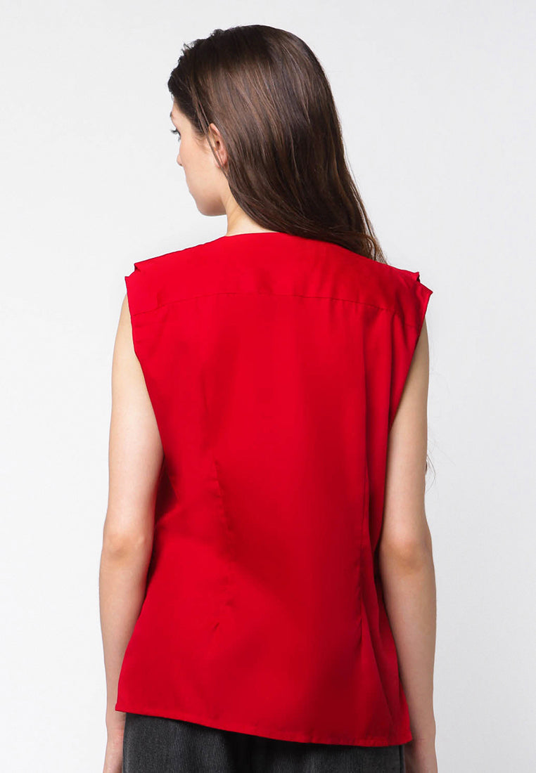Vest Blouse - Red