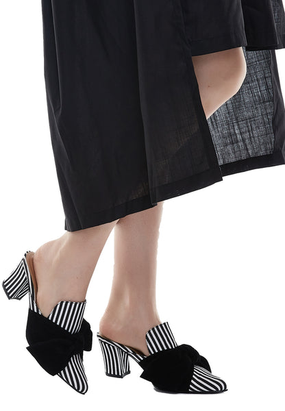 Bow Stripe Slip On - Black