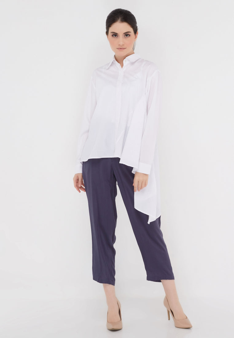 Side Rample White Shirt