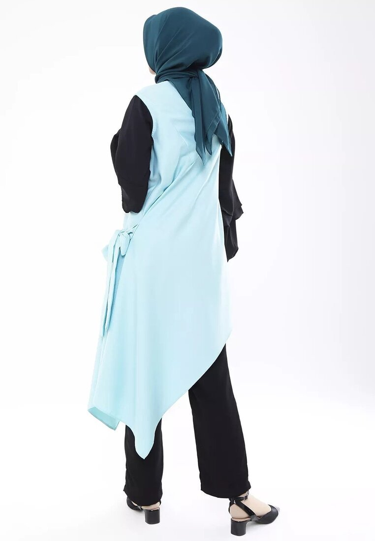 Two Ways High Neck Dress - Mint