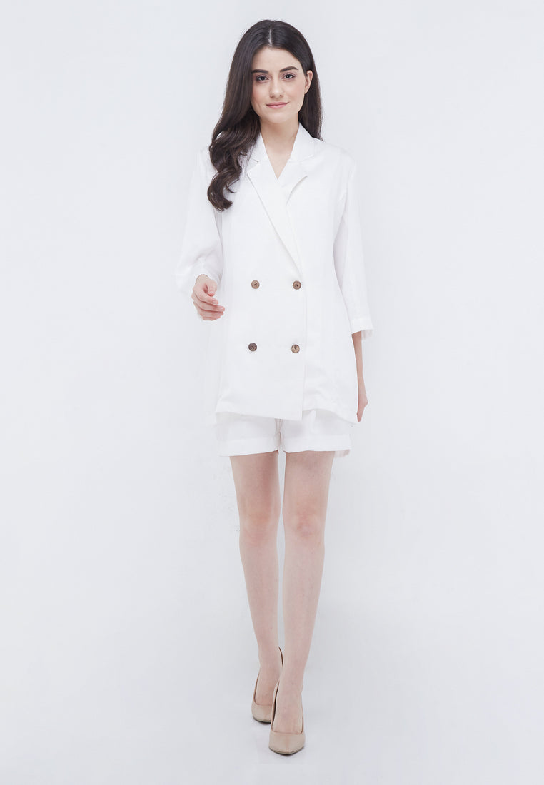 1 Set Blazer Pants - Broken White