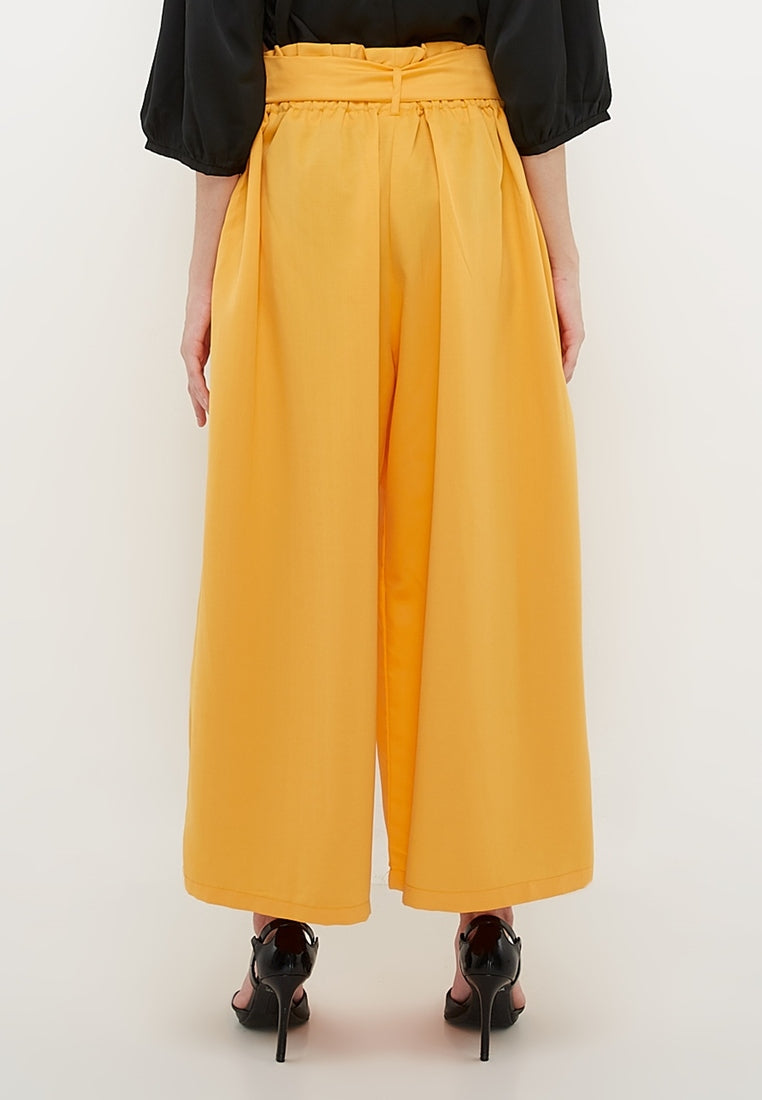 Wide Leg Culottes - Yellow