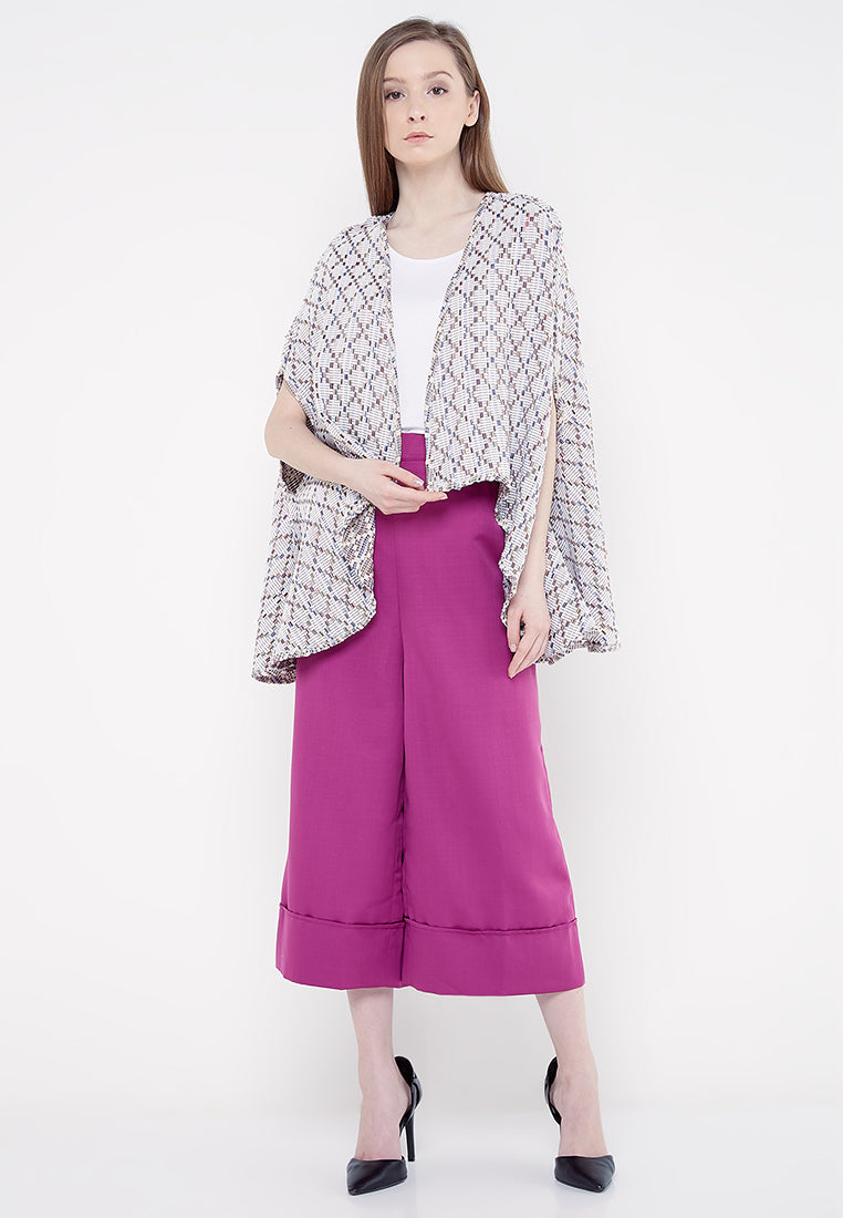 Tweed Cape - Multiple Pastel Color