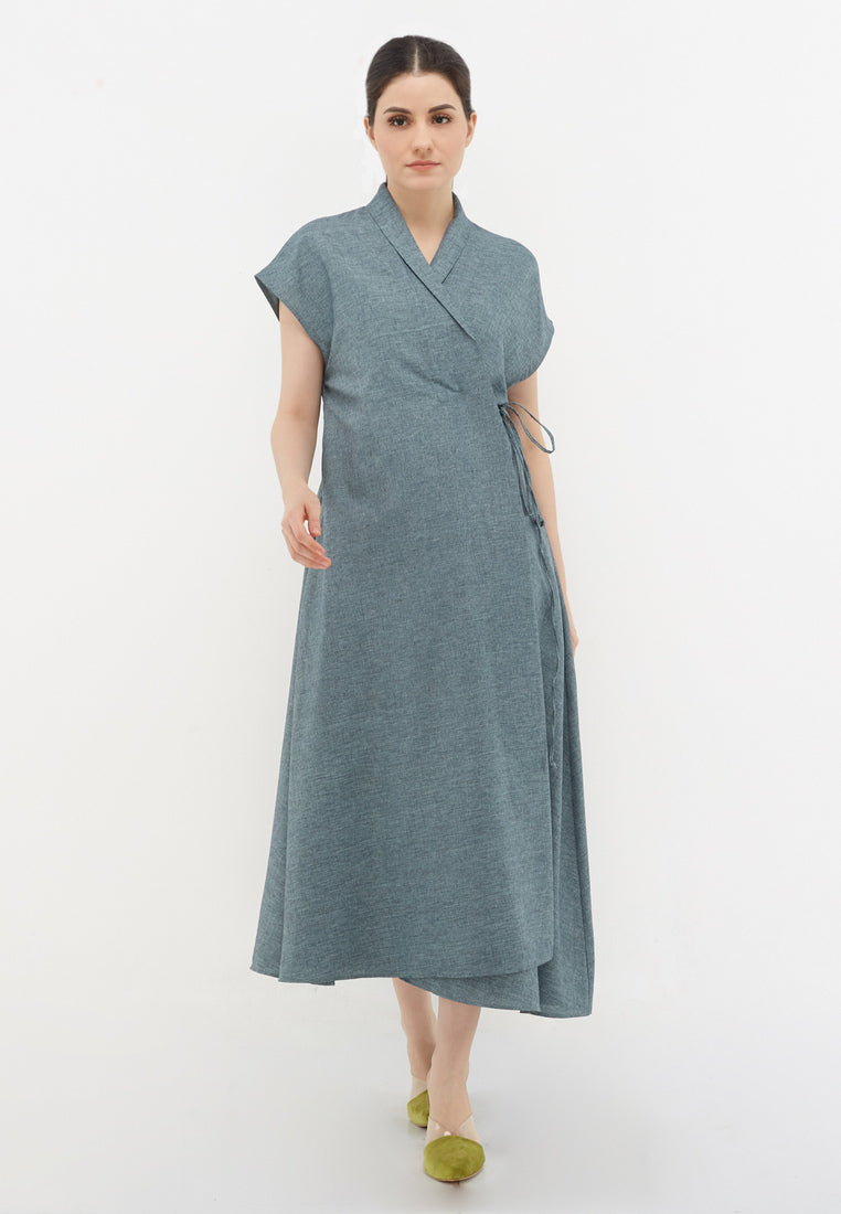Wrap Outer Dress - Toska
