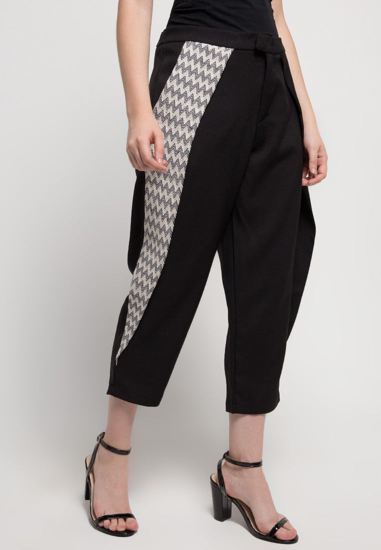 Wide Capri Pants - Black