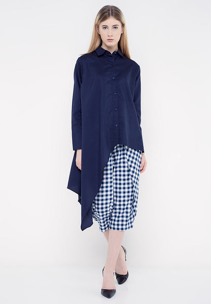 Side Tail Shirt - Navy