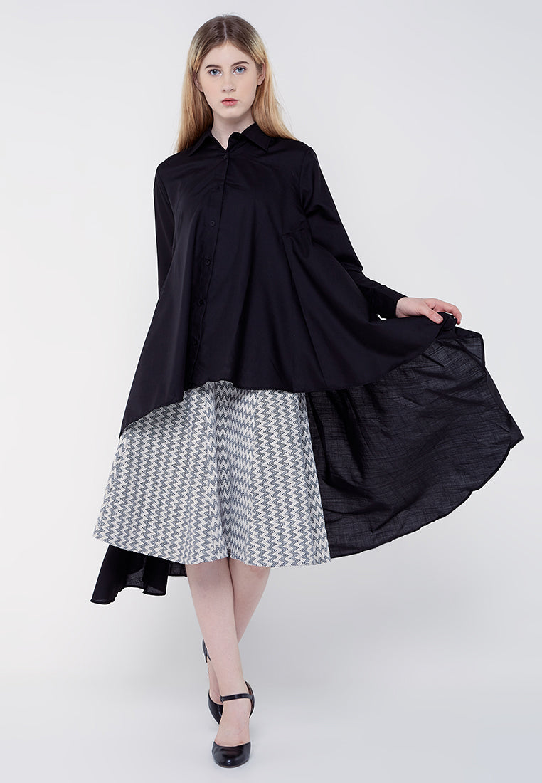 Long Tail Shirt - Black