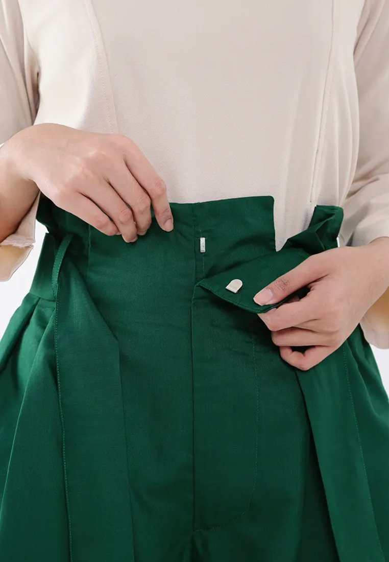 Wide Leg Culotte - Green