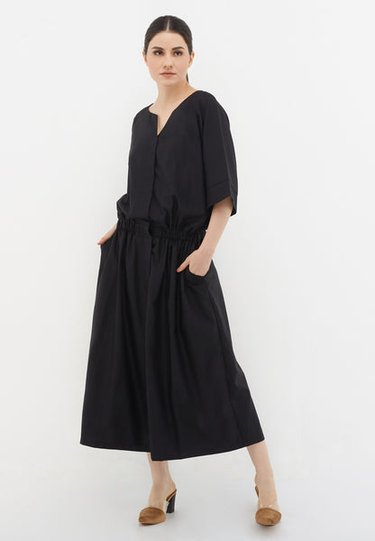 Wide Leg Jumpsuit - Black