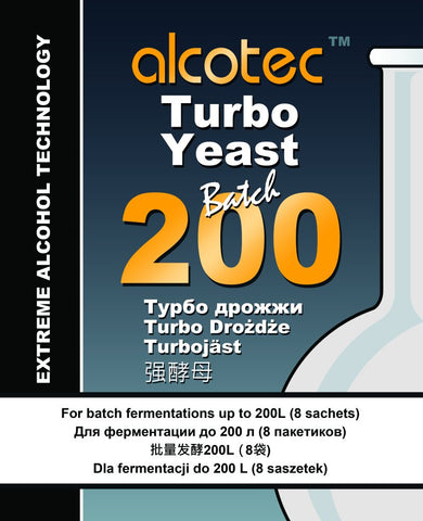 Alcotec 200 Batch Turbo Yeast