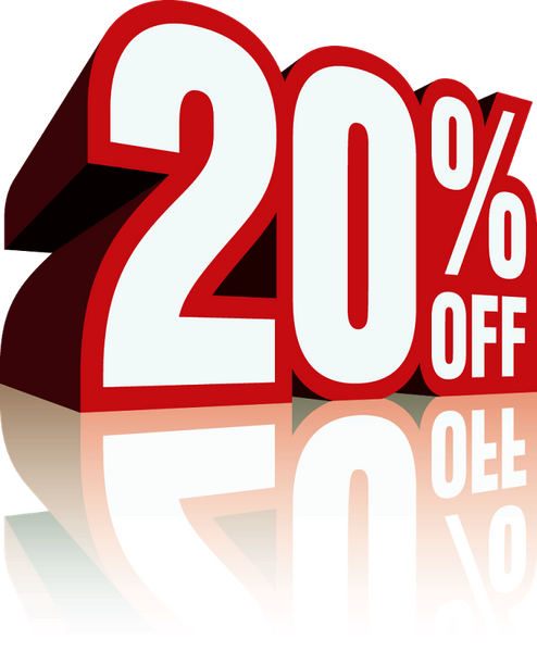 20% Off Sale Ends Soon