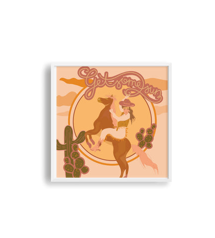 Get Some Sun Cowgirl Print