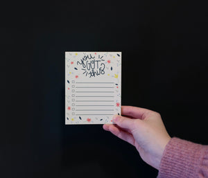 """You Got This"" Checklist Notepad"