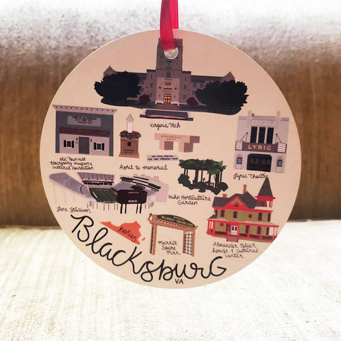 Blacksburg VA Ornament