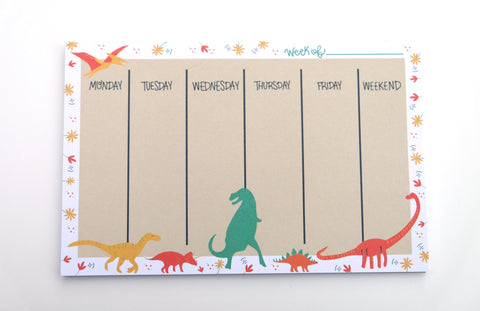Dinosaur Weekly Notepad