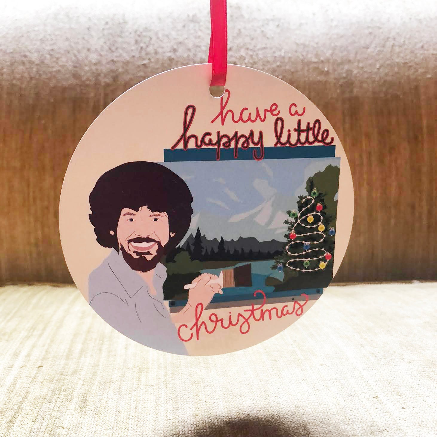 Bob Ross Ornament