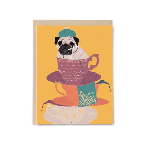 Feel Better Soon Pug Card