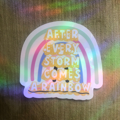 """After Every Storm Comes a Rainbow"" Suncatcher"