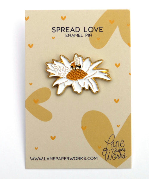 Spread Love Enamel Pin