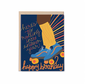 Retro Roller Skates Birthday Card