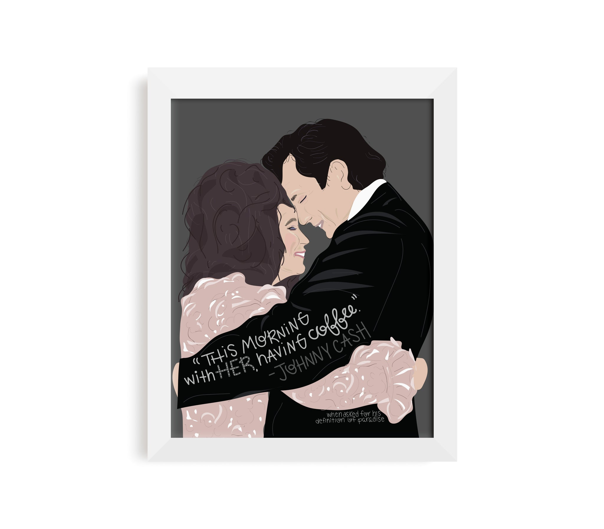 Johnny + June Cash Print