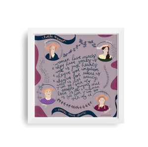 Little Women Quote Print