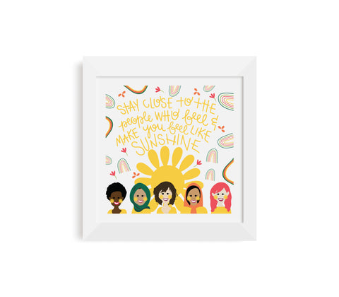Women Sunshine Print