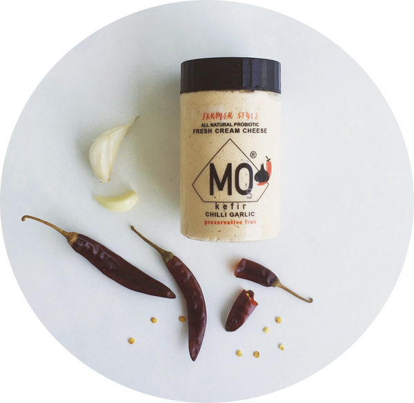 MO's CHILLI GARLIC FRESH CREAM CHEESE