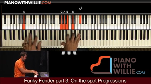 Funky Fender part 3 (On-the-spot Progressions)