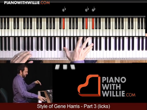 Style of Gene Harris – Licks