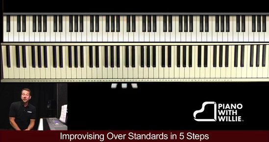 Improvising over standards in 5 steps
