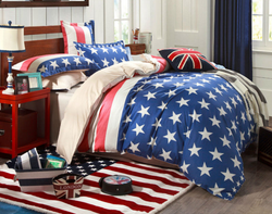 USA Fourth of July Stars and Stripes Bedding Set | 99sheets