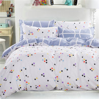 Minimalist Dots Bedding Set (White/Lavender) | 99sheets