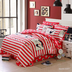 Mustache Bedding Set (Cute Red) | 99sheets